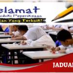 Jadual Peperiksaan UPSR 2019 Exam Date