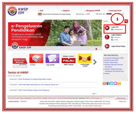 Pengeluaran Kwsp Untuk Pendidikan Ahli Atau Anak Semakan My