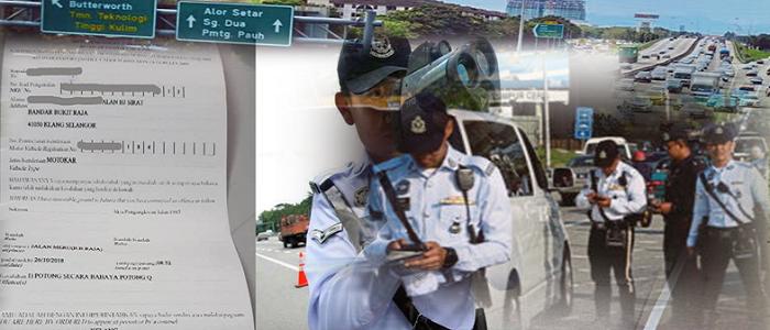 Senarai harga saman polis trafik terkini
