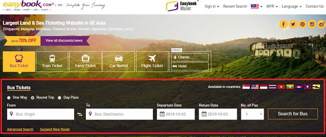 Cara beli tiket bus online guna easybook.com
