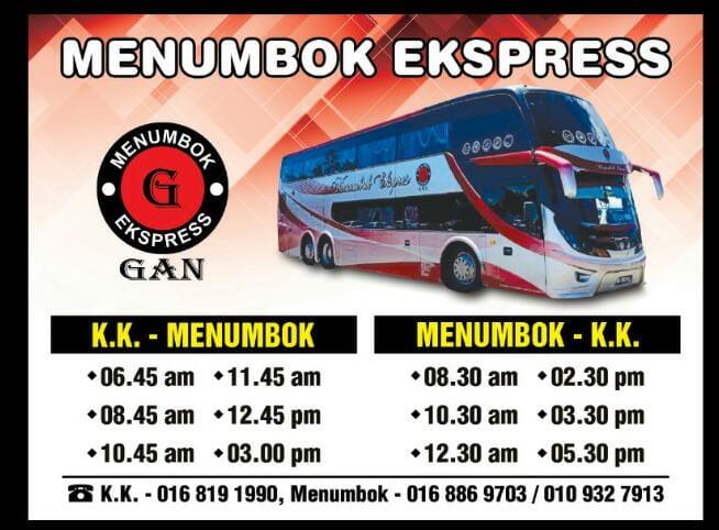 Harga tiket bas menumbok ke KK yang terkini