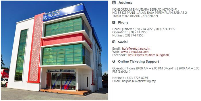 Tiket Bas Mutiara Express online