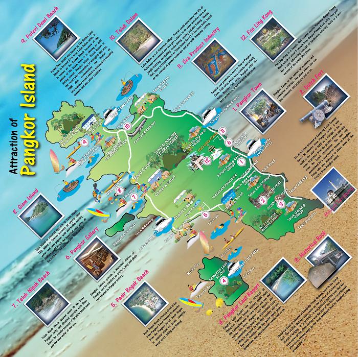 Peta pelancong di Pulau Pangkor