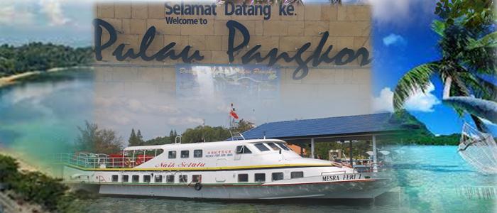 Harga tiket feri ke Pulau Pangkor anda boleh book online
