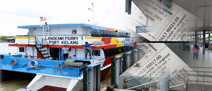 Jadual dan harga tiket feri Kuala Kedah ke Langkawi