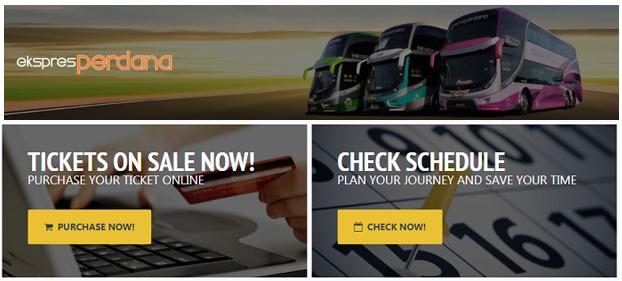 Beli tiket bas Perdana Express online
