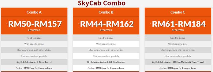 Harga tiket SkyCab di Langkawi