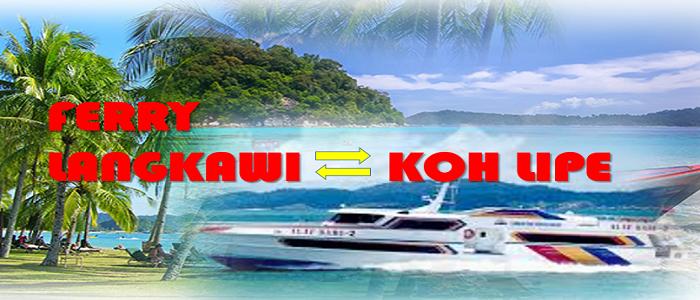 Jadual dan harga tiket feri ke Koh Lipe dari Langkawi