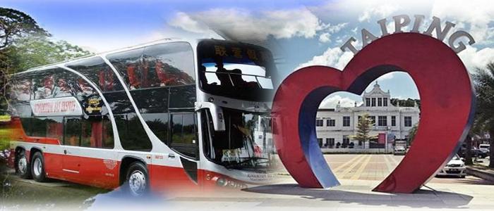 Jadual dan harga tiket bas ke Taiping yang terkini