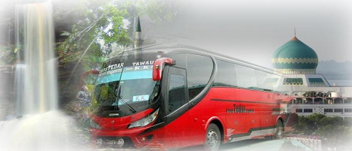 Harga tiket dan jadual bas ke Tawau Sabah