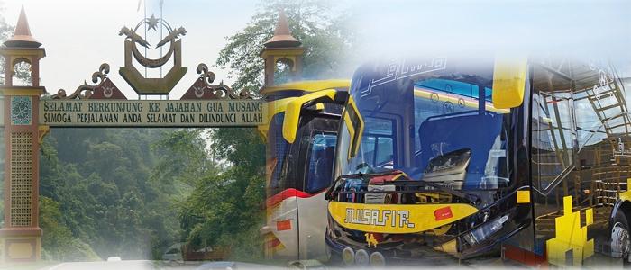 Harga tiket dan jadual bas ke Gua Musang