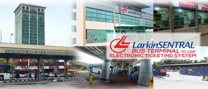 Harga tiket dan jadual waktu bas Pasir Gudang ke Larkin online