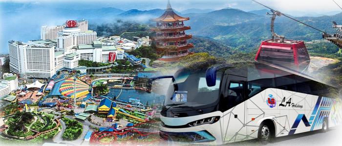 Jadual dan harga tiket bas Johor Bahru (Larkin Sentral) ke Genting Highland