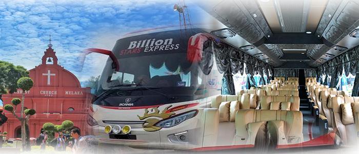 Harga tiket dan jadual bas Penang ke Melaka online