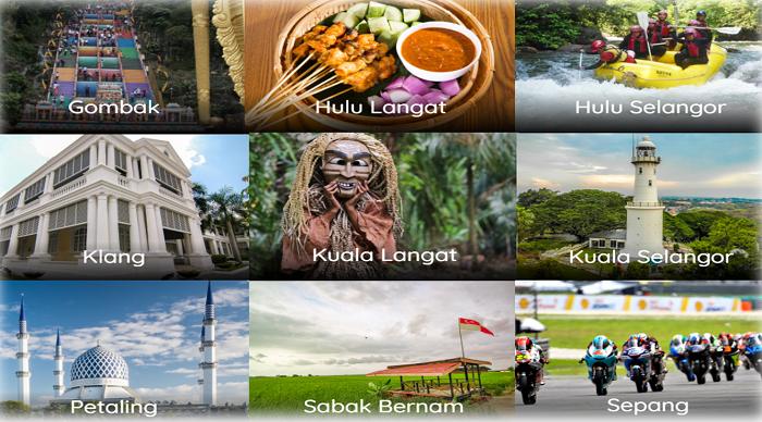 Senarai tempat menarik di negeri Selangor