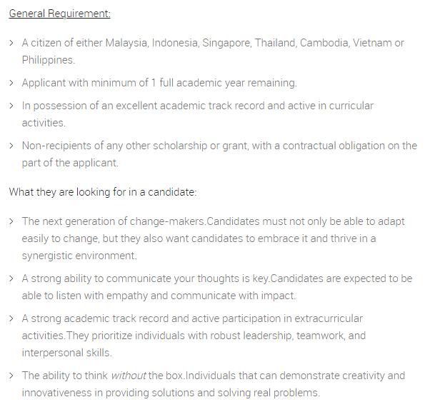 Senarai syarat kelayakan memohon biasiswa CIMB Asean Scholarship