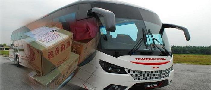 Cara pos barang guna bas Transnasional Express