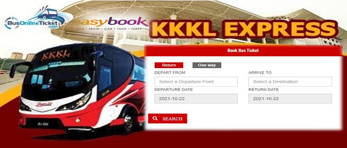 Cara beli tiket bas online KKKL Express dan check trip